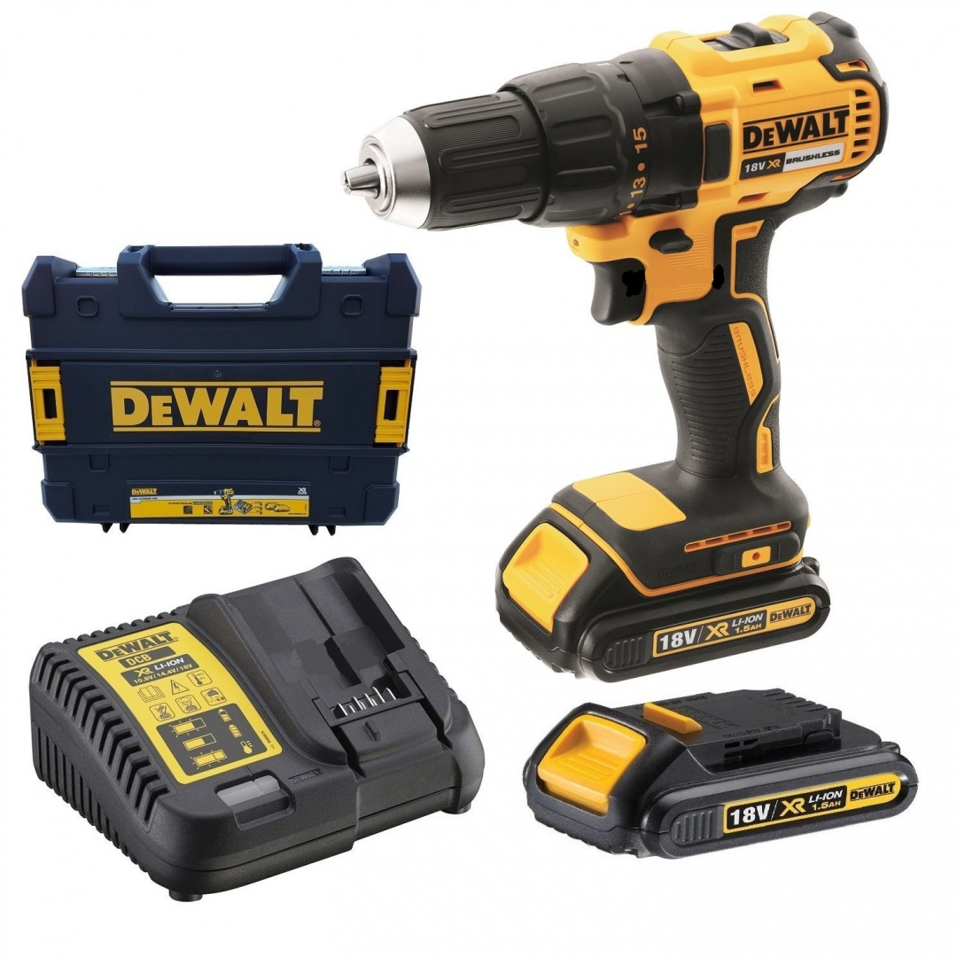 dcd777s2t qw trapano avvitatore dewalt brushless 18v 1 5ah. Black Bedroom Furniture Sets. Home Design Ideas